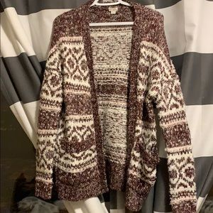 Patterned wool cardigan